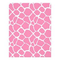Animal Print Giraffe Print Scrapbook Paper Pink