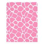 Animal Print Giraffe Print Scrapbook Paper Pink Letterhead Template