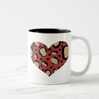 Animal Print Heart Coffee Mug