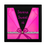 Animal Print Hot Pink & Black Folded Sweet 16 Jewelry Boxes