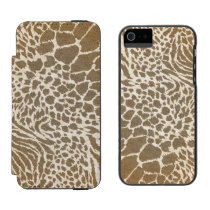 Animal Print iPhone5 Wallet Case