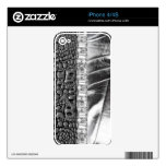Animal Print  Leather Rhinestone iPhone4/4S Skin iPhone 4S Decals