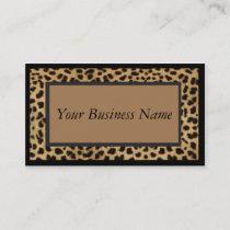 Animal Print Leopard Business Card