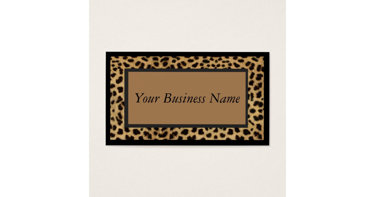 Contemporary Leopard Print Business Cards Gallery - Business Card ...