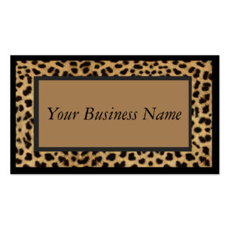 Animal Print Leopard Business Card
