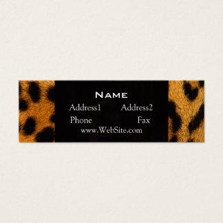 Animal Print Leopard Fur Skinny Business Card
