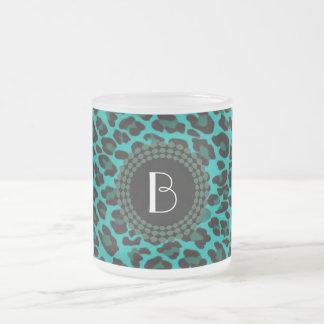 Animal Print Leopard Pattern Frosted Glass Coffee Mug