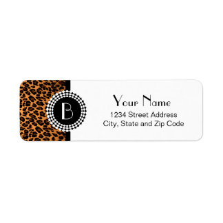Animal Print Leopard Pattern Label