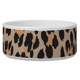 Animal Print, Leopard Spots - Brown Black Bowl