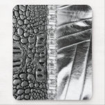 Animal Print Metallic Leather Rhinestone Mousepad