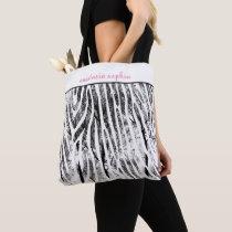 Animal Print Monogrammed Tote Bag