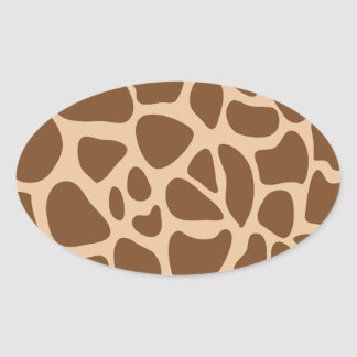 Animal Print Oval Sticker