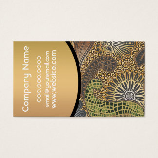 Animal Print Paisley Pattern Business Card