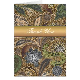 Animal Print Paisley Pattern Card