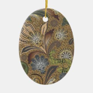 Animal Print Paisley Pattern Ceramic Ornament