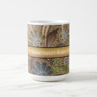 Animal Print Paisley Pattern Coffee Mug