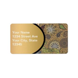 Animal Print Paisley Pattern Label