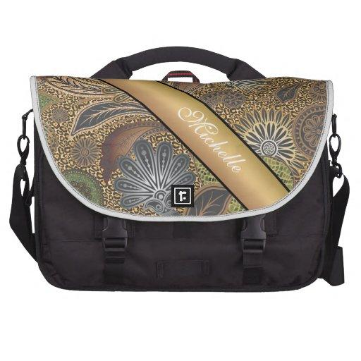 Animal Print Paisley Pattern Laptop Bag