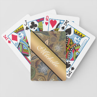 Animal Print Paisley Pattern Playing Cards