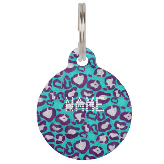 Animal Print Pattern Pet ID Tag