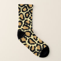 Animal print pattern socks