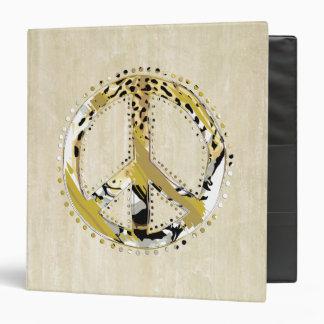 Animal Print Peace sign I + your backgr. & ideas Binder