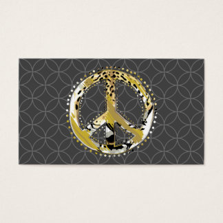 Animal Print Peace sign I + your backgr. & ideas Business Card