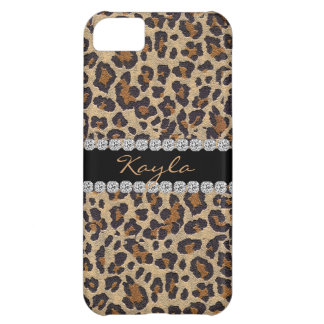 ANIMAL PRINT PERSONLIZED BLING  I phone 5 CASE Case For iPhone 5C