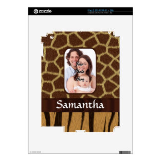 Animal print photo background decal for the iPad 2