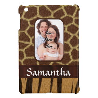 Animal print photo background iPad mini case