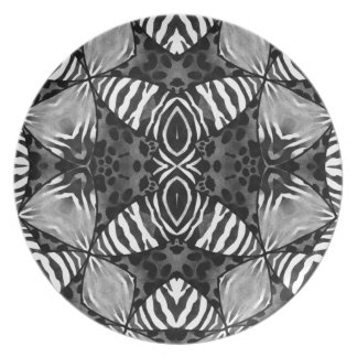 Animal Print Party Plate