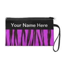Animal Print Purple Zebra Wristlet