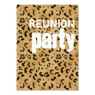 Animal print Reunion Party Card