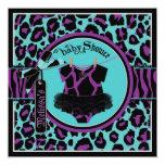 Animal Print Rock Star Tutu Baby Shower Card