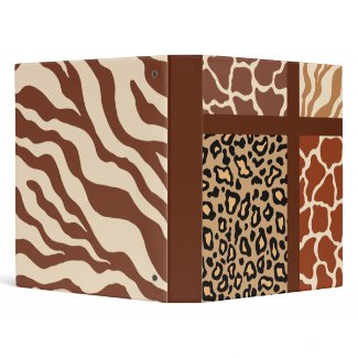 Animal Print Scrapbook Binder binder