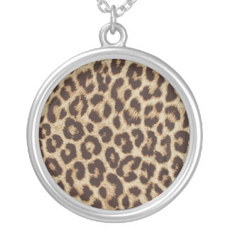 Animal Print Silver Plated Necklace