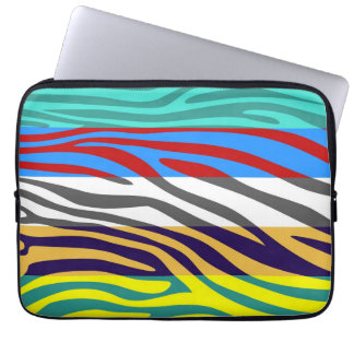 Animal Print Skin Zebra Retro Colorful Pattern 2 Computer Sleeve