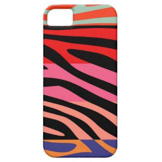 Animal Print Skin Zebra Retro Colorful Pattern 5 iPhone SE/5/5s Case