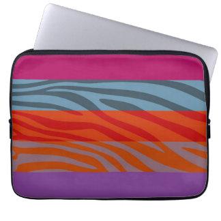 Animal Print Skin Zebra Retro Colorful Pattern 9 Laptop Sleeve