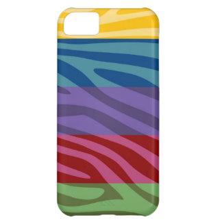 Animal Print Skin Zebra Retro Colorful Pattern iPhone 5C Cover