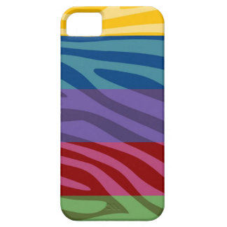 Animal Print Skin Zebra Retro Colorful Pattern iPhone SE/5/5s Case