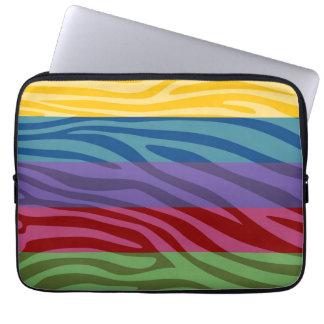 Animal Print Skin Zebra Retro Colorful Pattern Laptop Sleeve