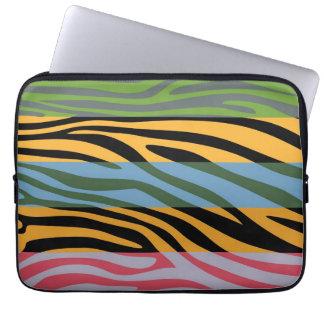 Animal Print Skin Zebra Stripe Pattern Laptop Sleeve