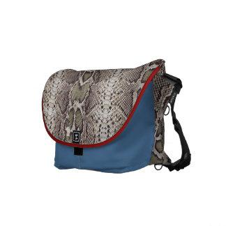 Animal Print Snakeskin Pattern Messenger Bag