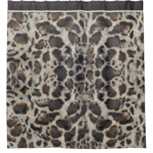 Animal Print Snow Leopard Shower Curtain