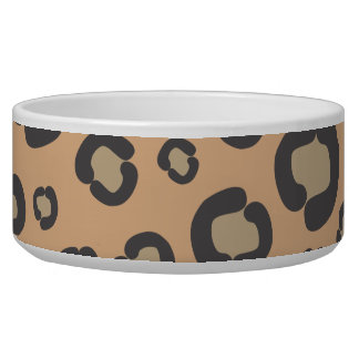 Animal Print, Spotted Cheetah - Black Brown Bowl