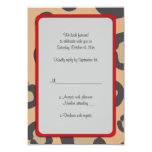 Animal Print, Spotted Cheetah - Black Brown Personalized Invite
