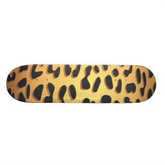 Animal Print, Spotted Cheetah - Black Yellow Skate Board