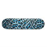 Animal Print, Spotted Leopard - Blue Black Skate Decks