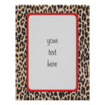 """Animal Print, Spotted Leopard - Brown Black 8.5"""" X 11"""" Flyer"""